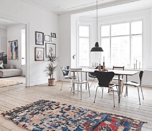 oriental rugs in modern scandinavian design. Black Bedroom Furniture Sets. Home Design Ideas