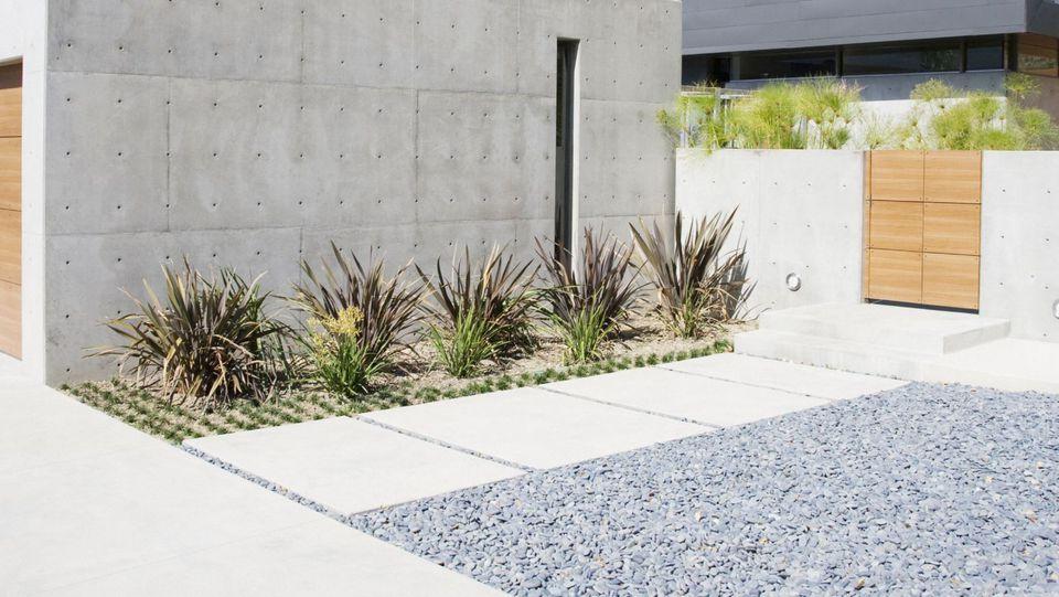 Large Modern Concrete Pathway
