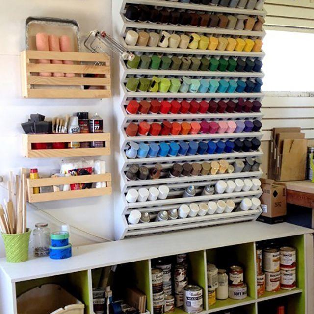 diy paint storage