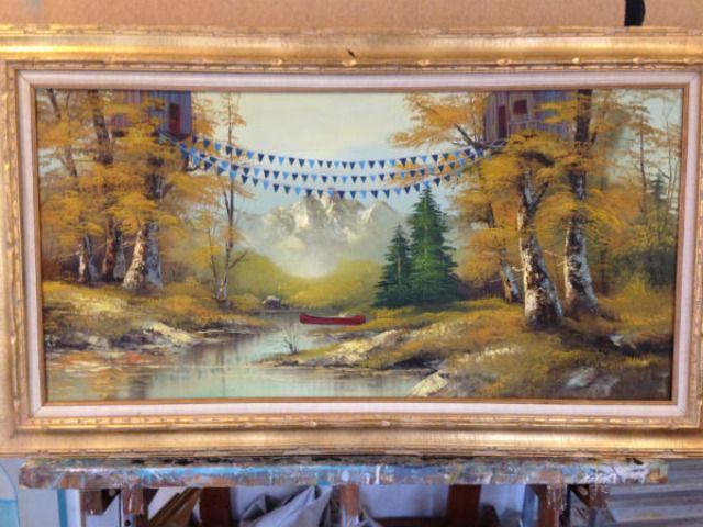 Thrift store painting revamp