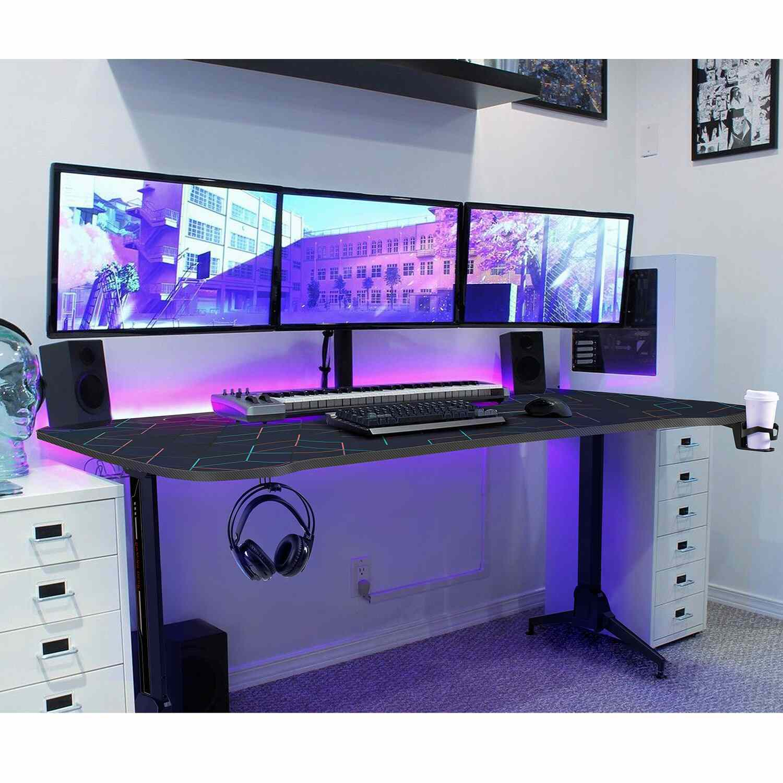 Homal Computer Office Height Adjustable Gaming Desk