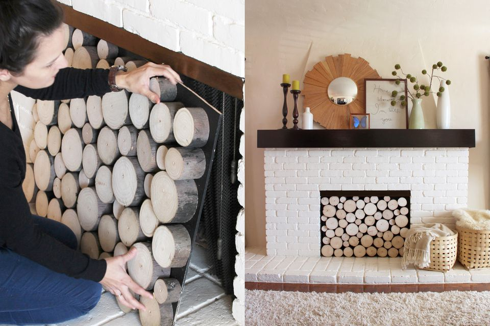 Fireplace-Rounds-Faux-Logs-DIY