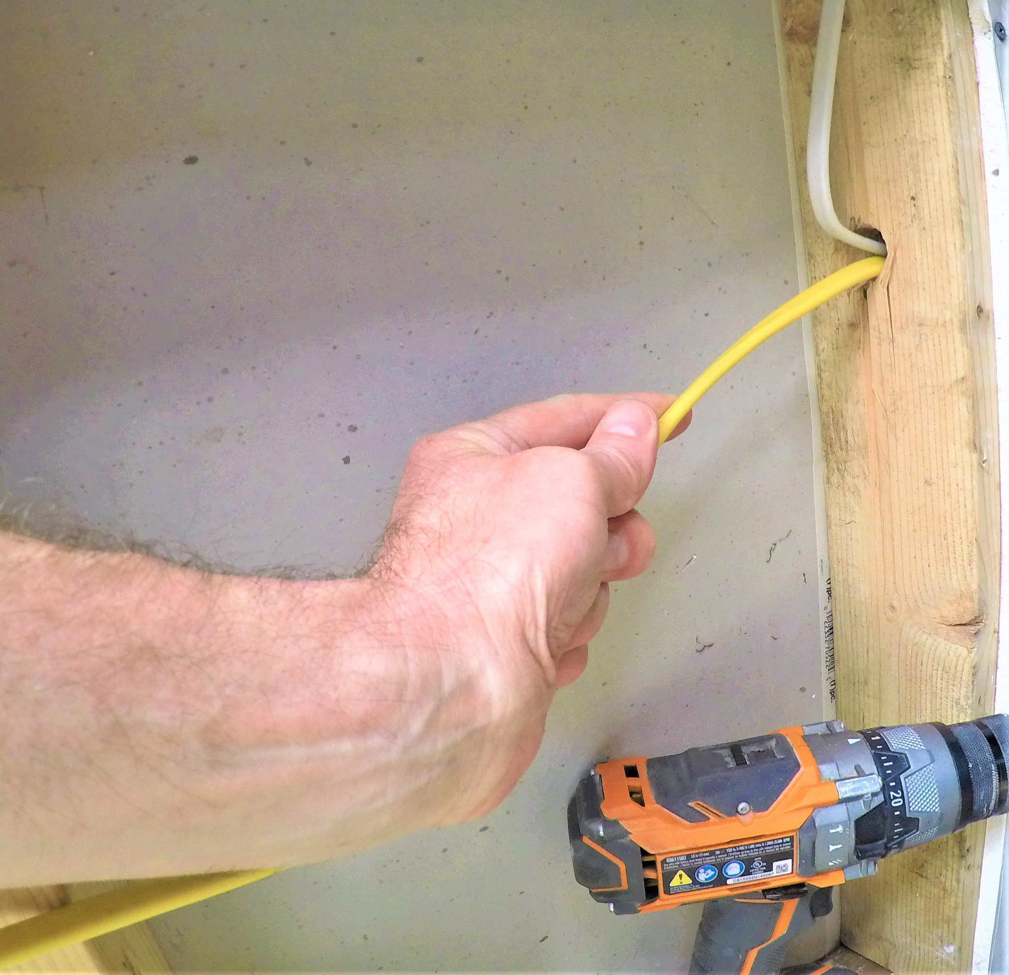 How To Run Electrical Wire Diy Wiring Shed