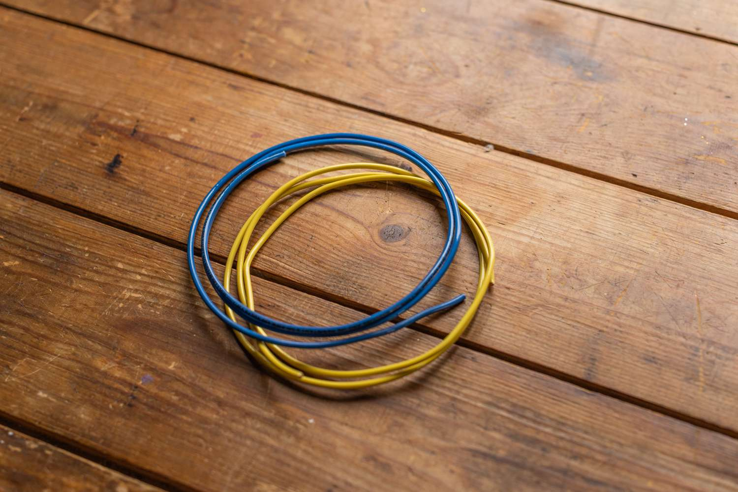 Electrical Wiring Color Coding System House Switch Loop Blue And Yellow Wires Insulation