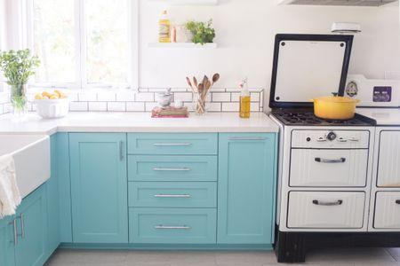 Tiffany Blue Kitchen Cabinets