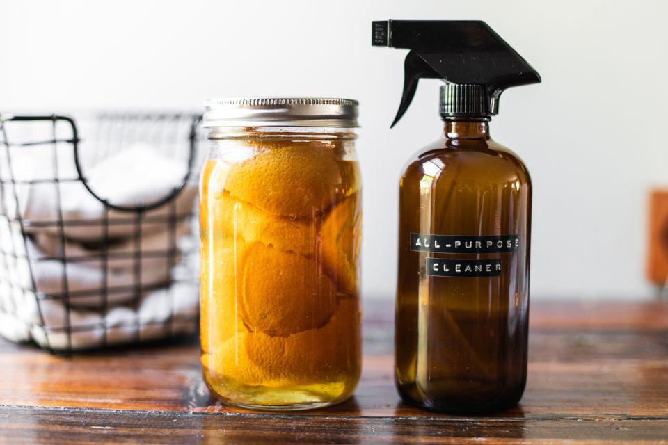 all purpose DIY cleaner and lemons