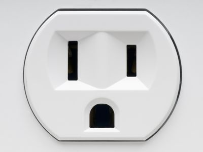 An electrical outlet receptacle