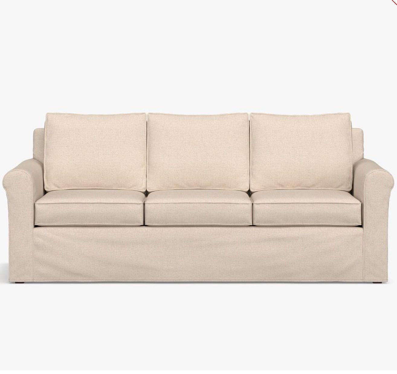 Cameron Roll Arm Slipcovered Sleeper Sofa