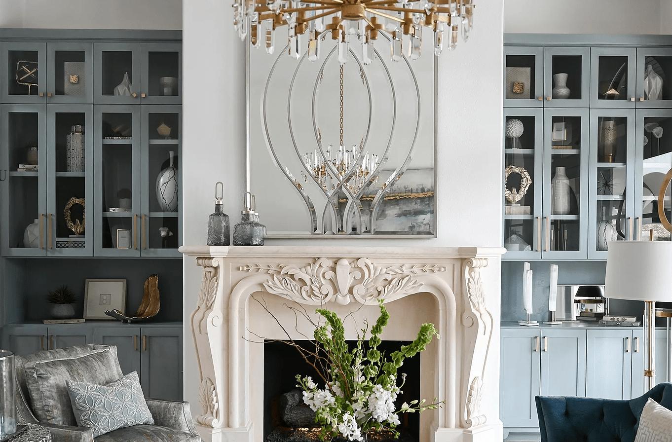 lighting above fireplace