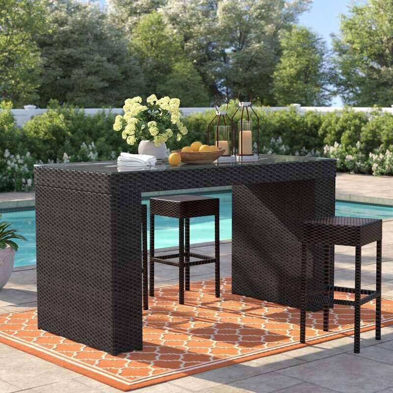 Sol 72 Outdoor Tegan Bar Table