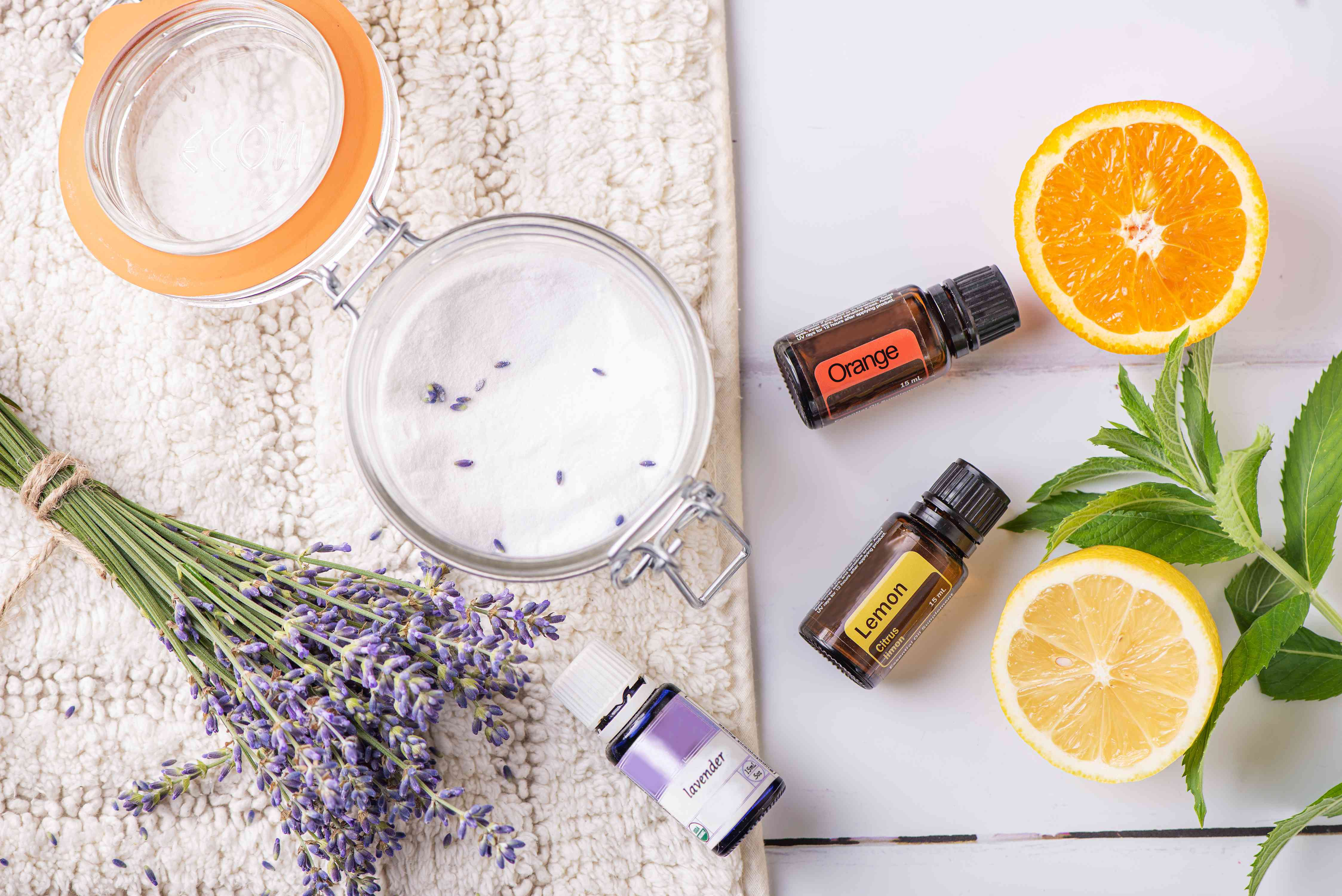 ingredients for natural rug freshener