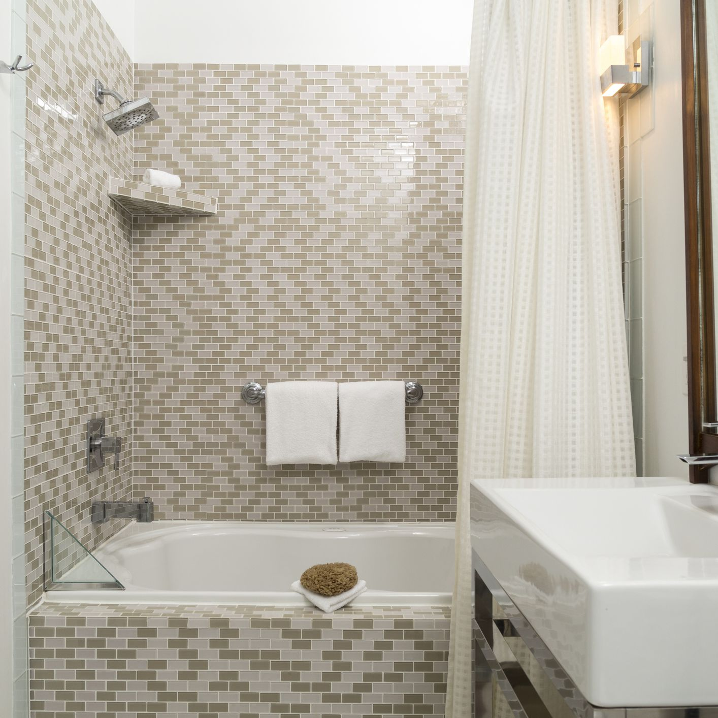 tiled in bath