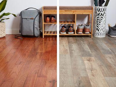 Laminate vs hardwood floor