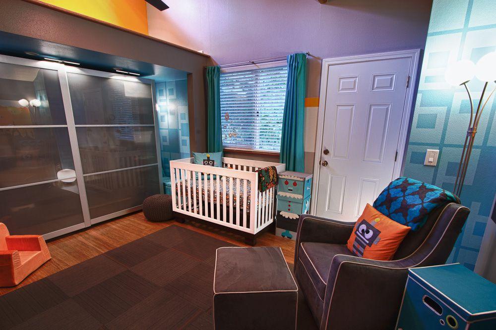Modern robot-themed nursery