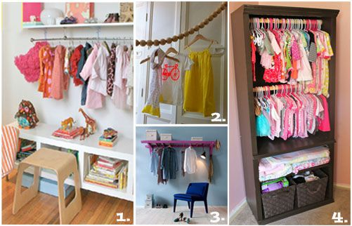 DIY closet ideas for kids' rooms