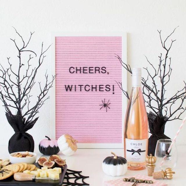letrero en una viñeta de Halloween