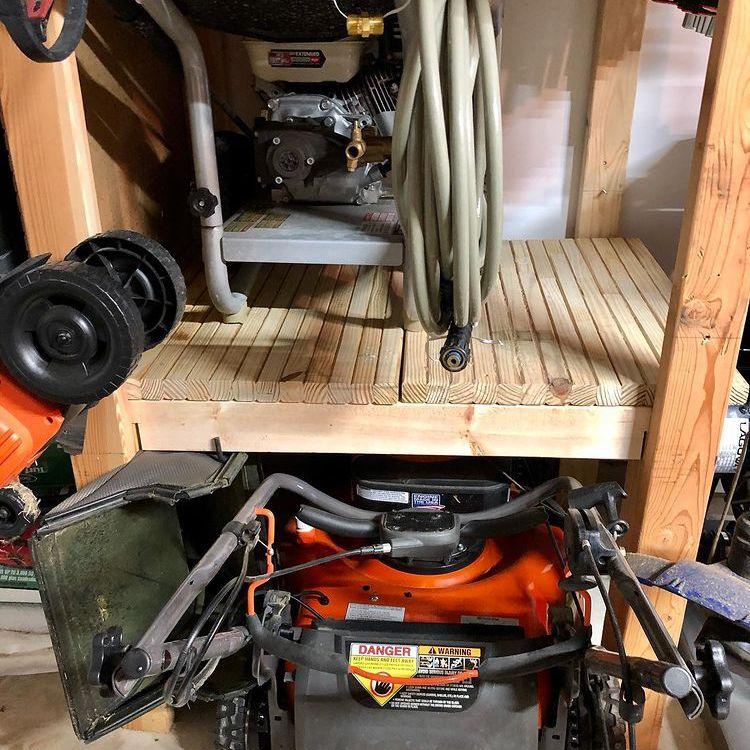 Build tool storage shelf