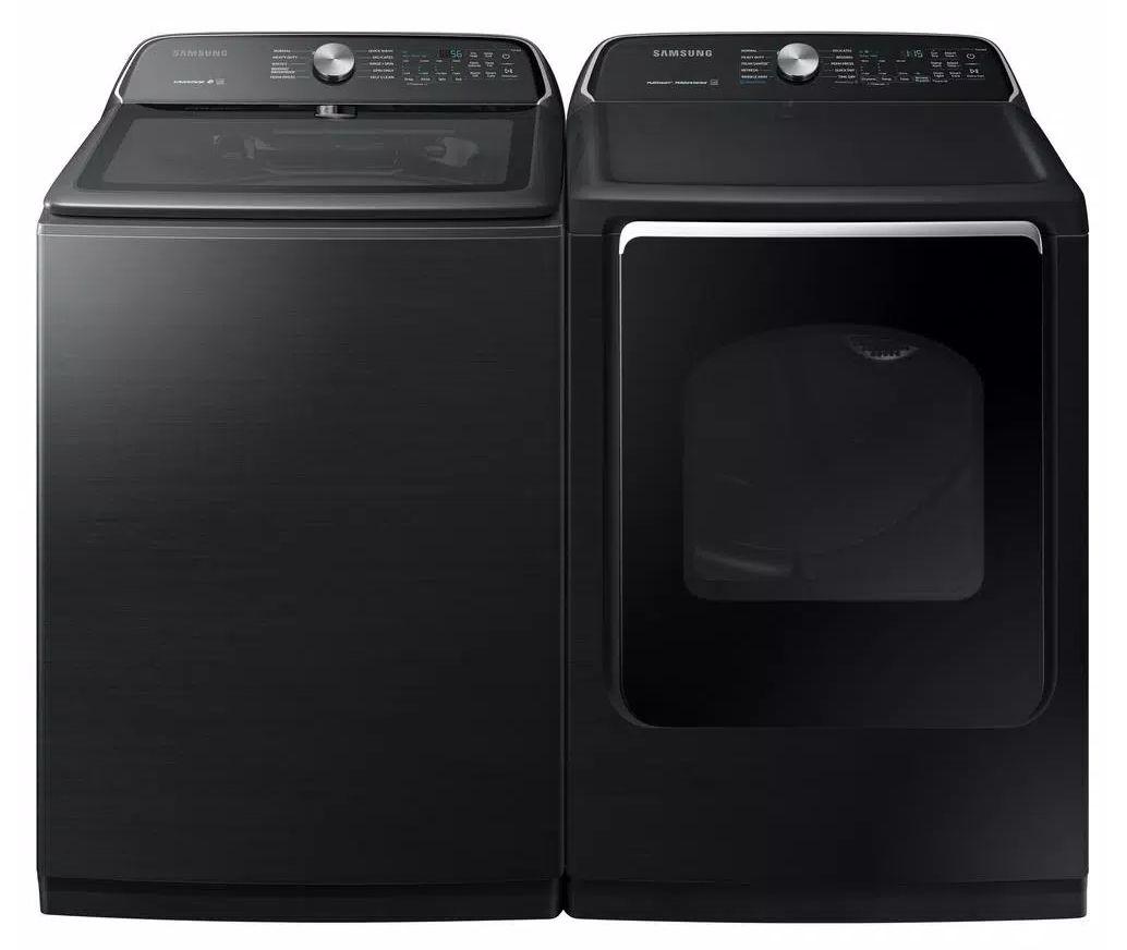 Samsung WA54R7200AV Top-Load Washing Machine and DVE54R7200V Electric Dryer