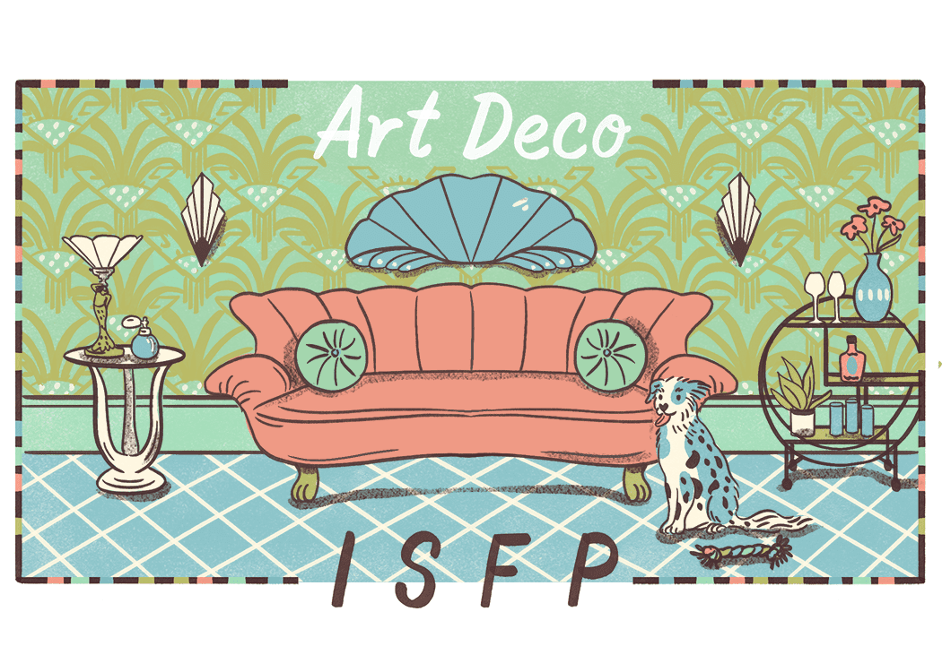 An illustration of the ideal home for an ISFP