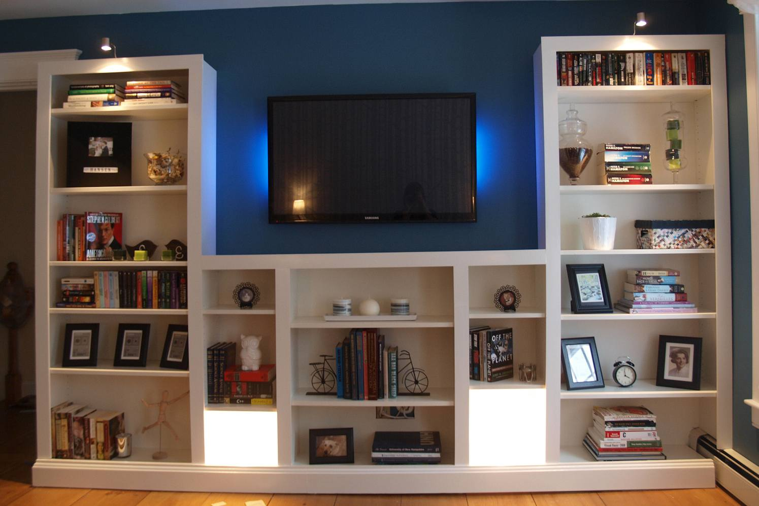 23 ingenious ikea billy bookcase hacks - Entertainment Centers With Bookshelves