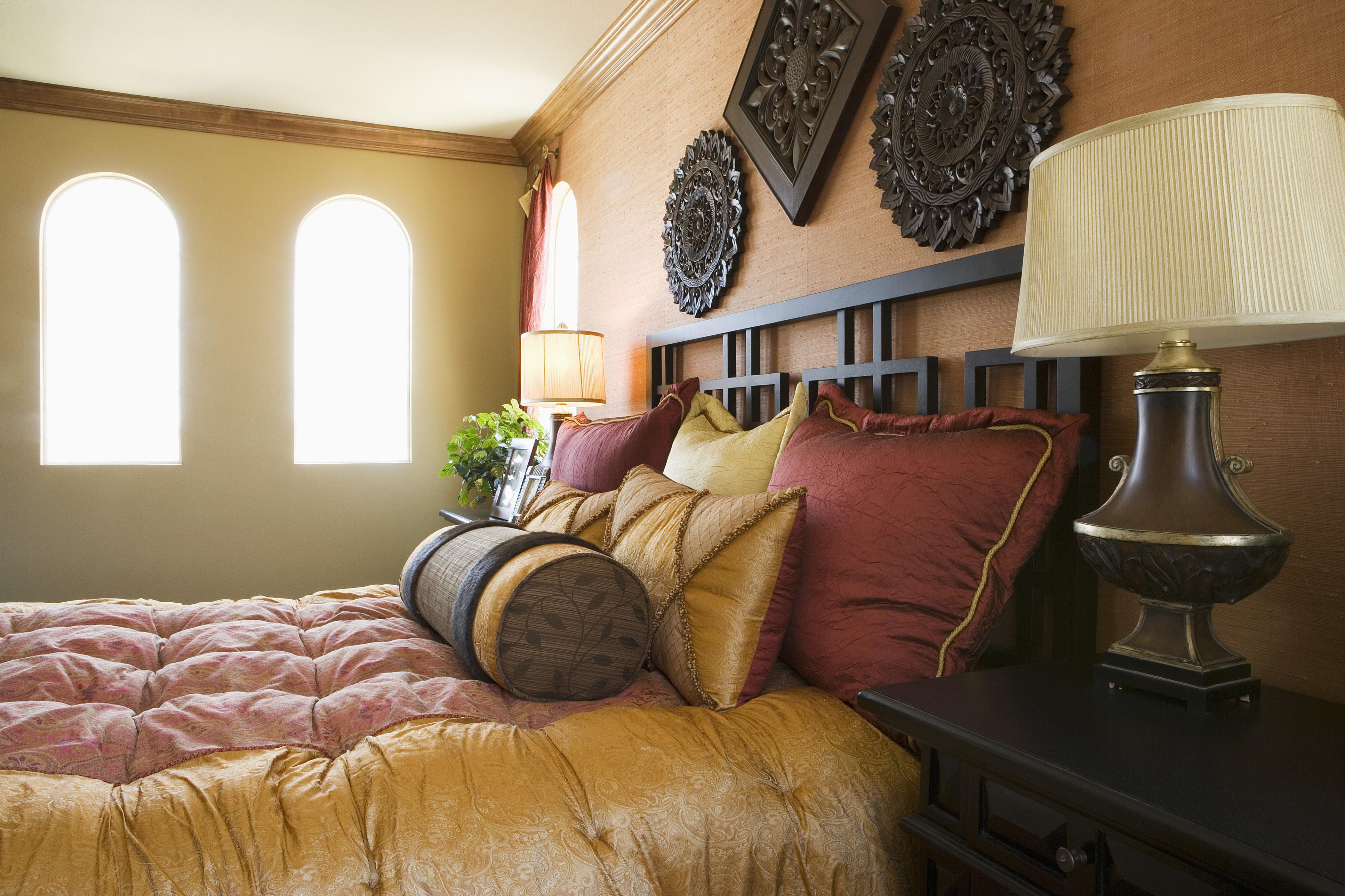 Habitación toscana mostaza y vino