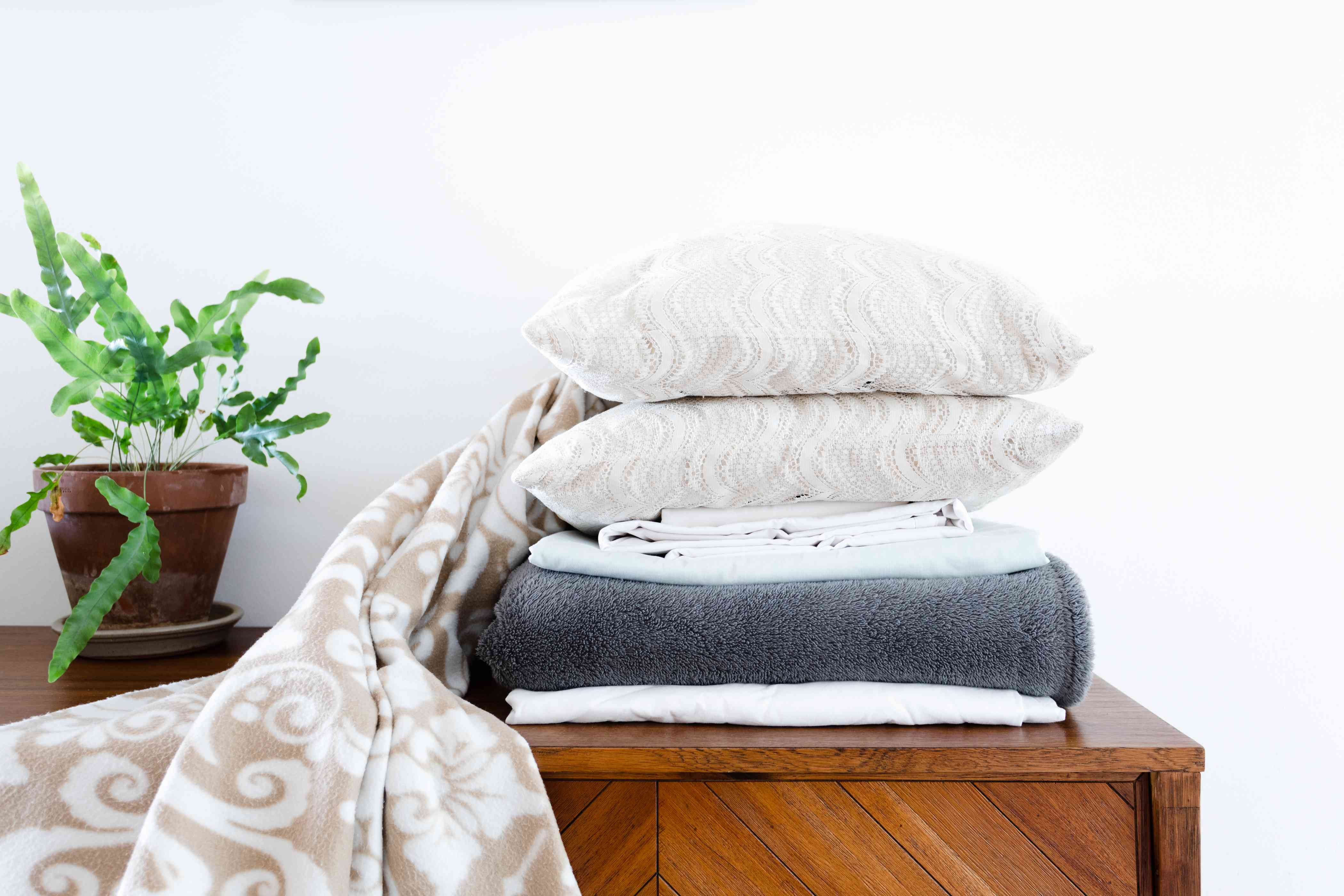 stack of bedding
