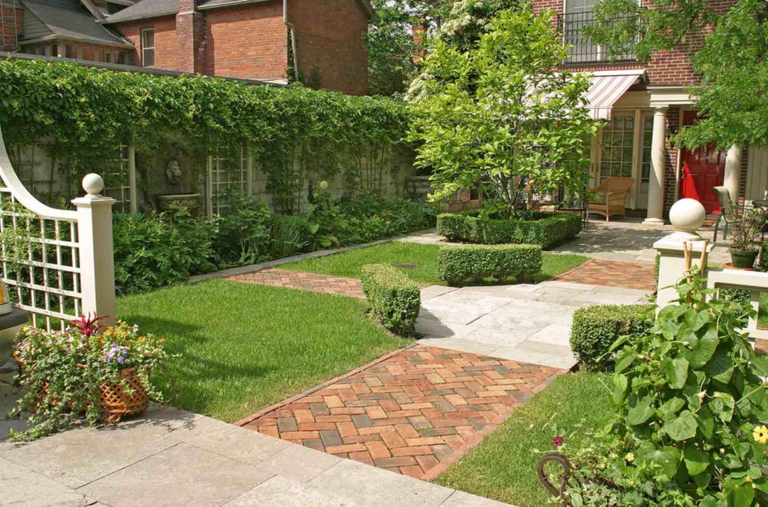 diseños de jardín inglés