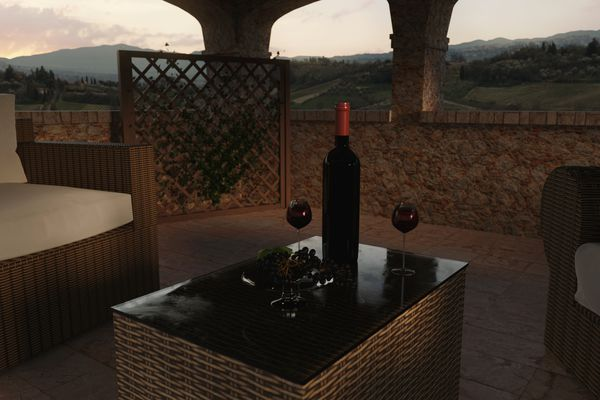 A Tuscan-style villa