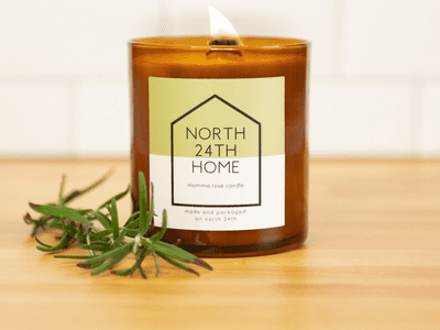 North 24th Home Momma Rose candle