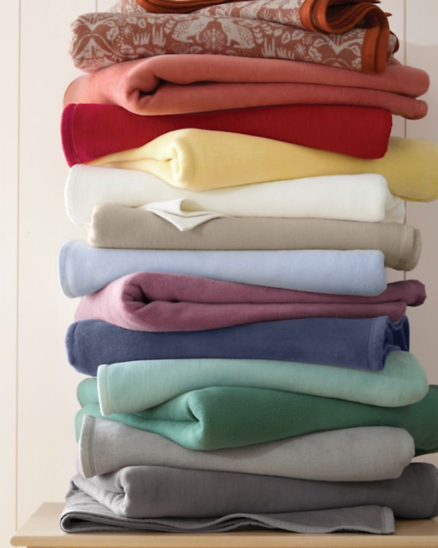 Garnett Hill Cotton Fleece Blanket