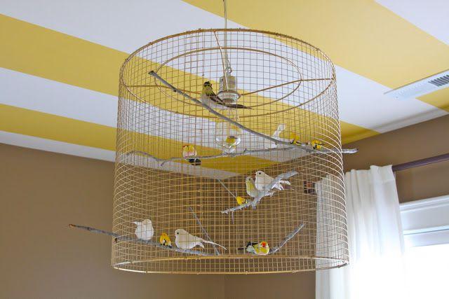 Lámpara de jaula de pájaros