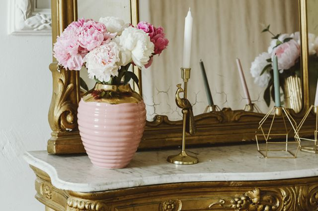 gilded items used in decor