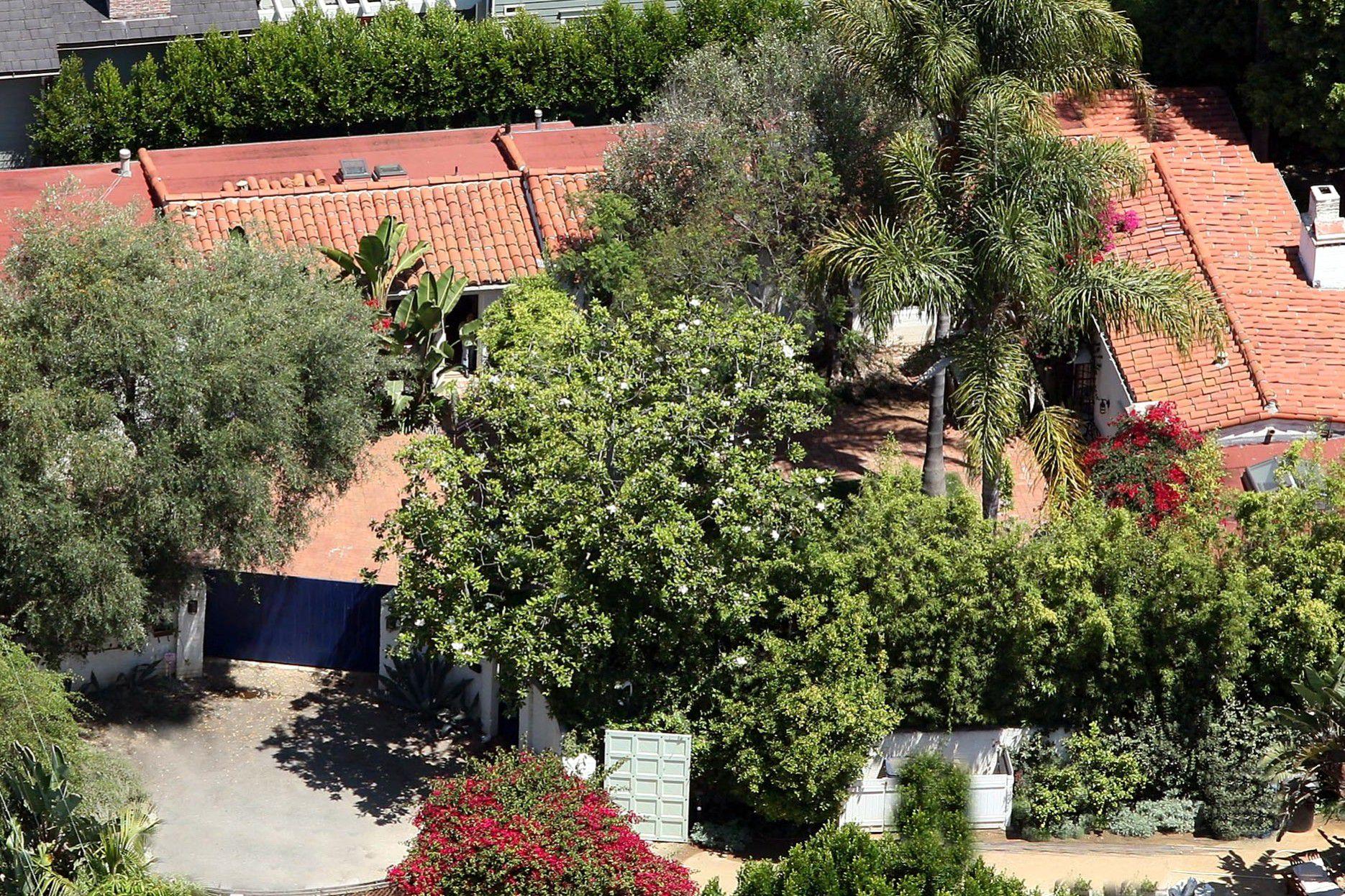 Aerial view of Marilyn Monroe's house