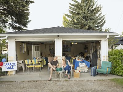 Garage sales are just one way to find budget furniture