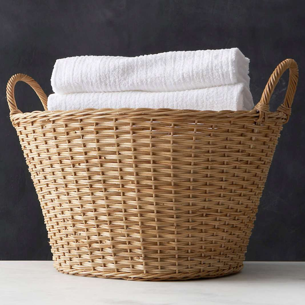Crate&Barrel Wicker Laundry Basket