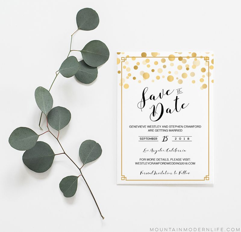 Free Save The Date Templates - Save the date text template