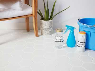 Porcelain tile cleaning supplies