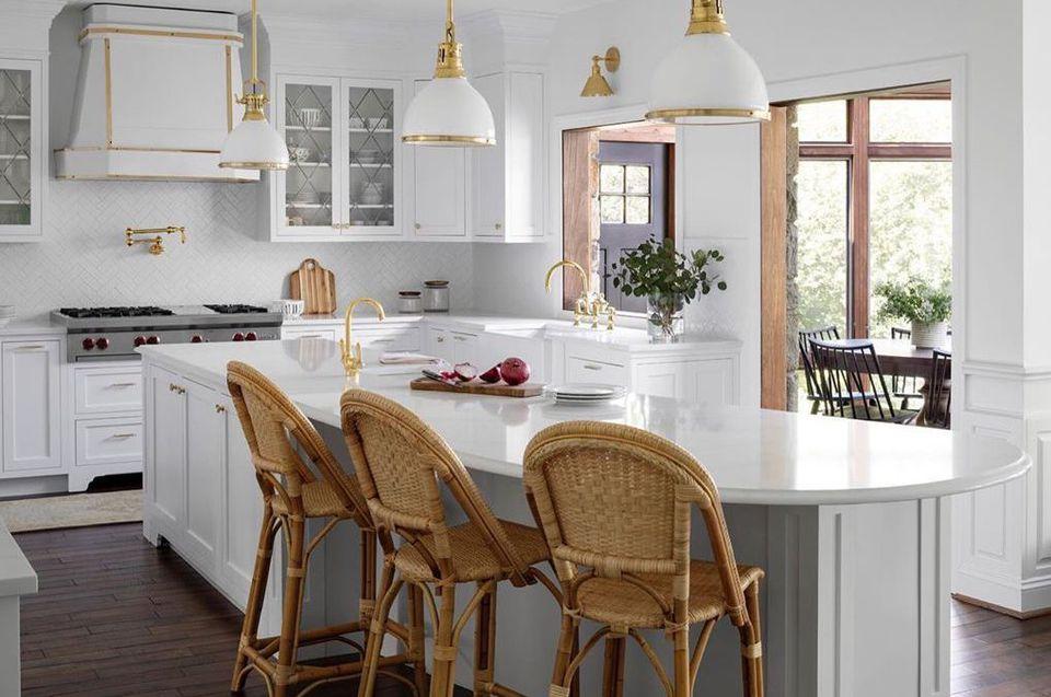 Gray and white kitchen