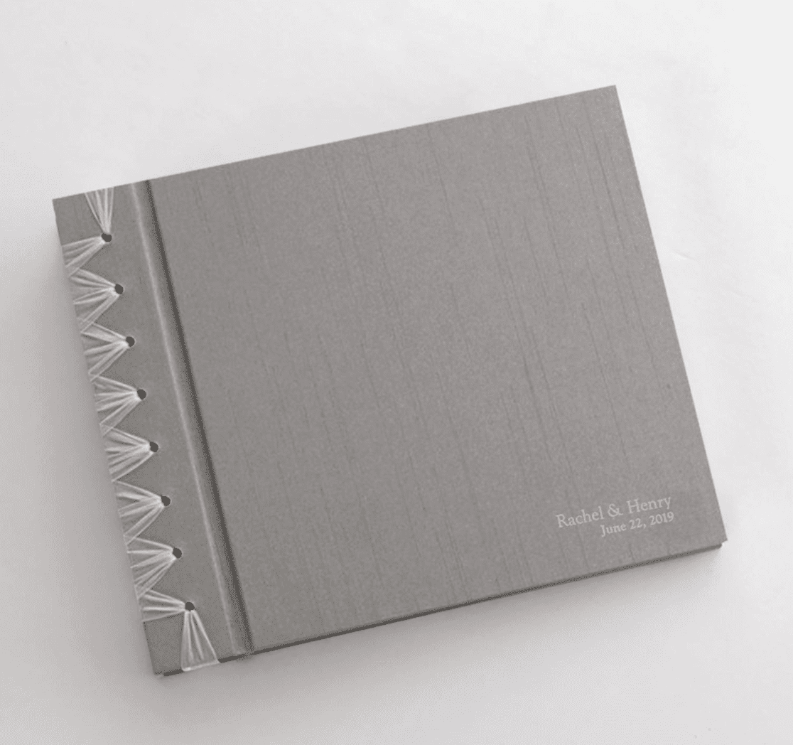 """Personalized Anniversary Journal With """"Silver Silk"""" Cover"""