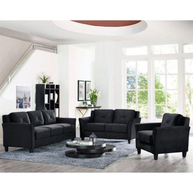 Lifestyle Solutions Hartford 3 Piece Microfiber Sofa Set