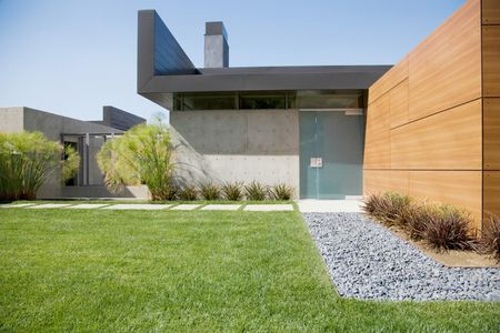 Front Yard Of Modern House