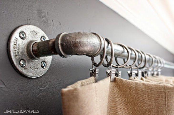 piping curtain rod