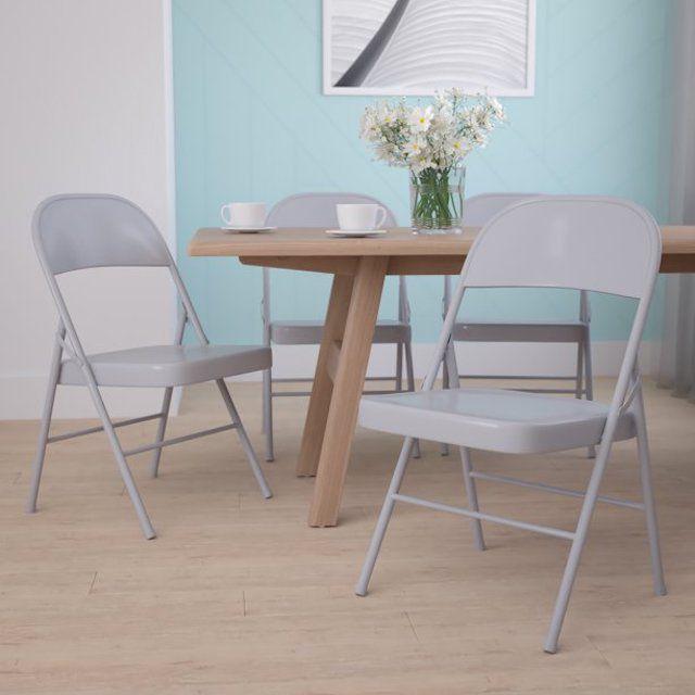 Flash Furniture Hercules Series Double Braced Metal Folding Chair