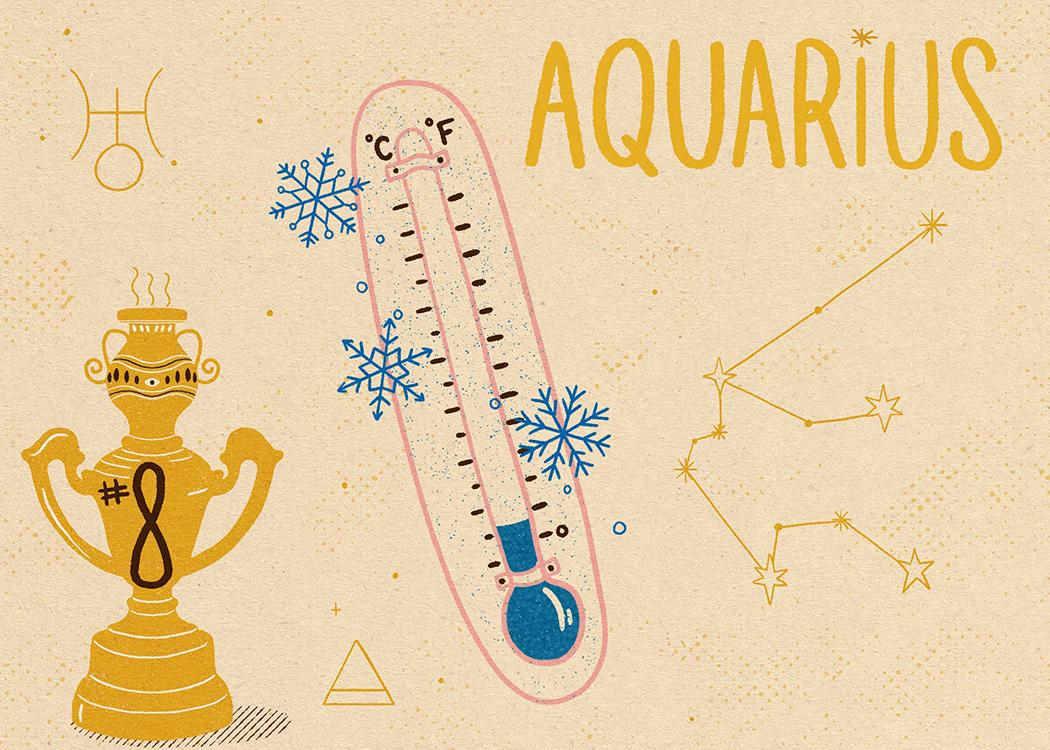 aquarius zodiac politeness illustration
