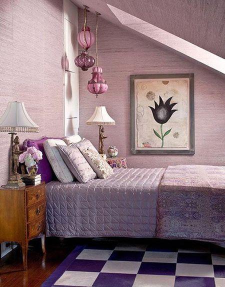 Purple Vintage Bedroom