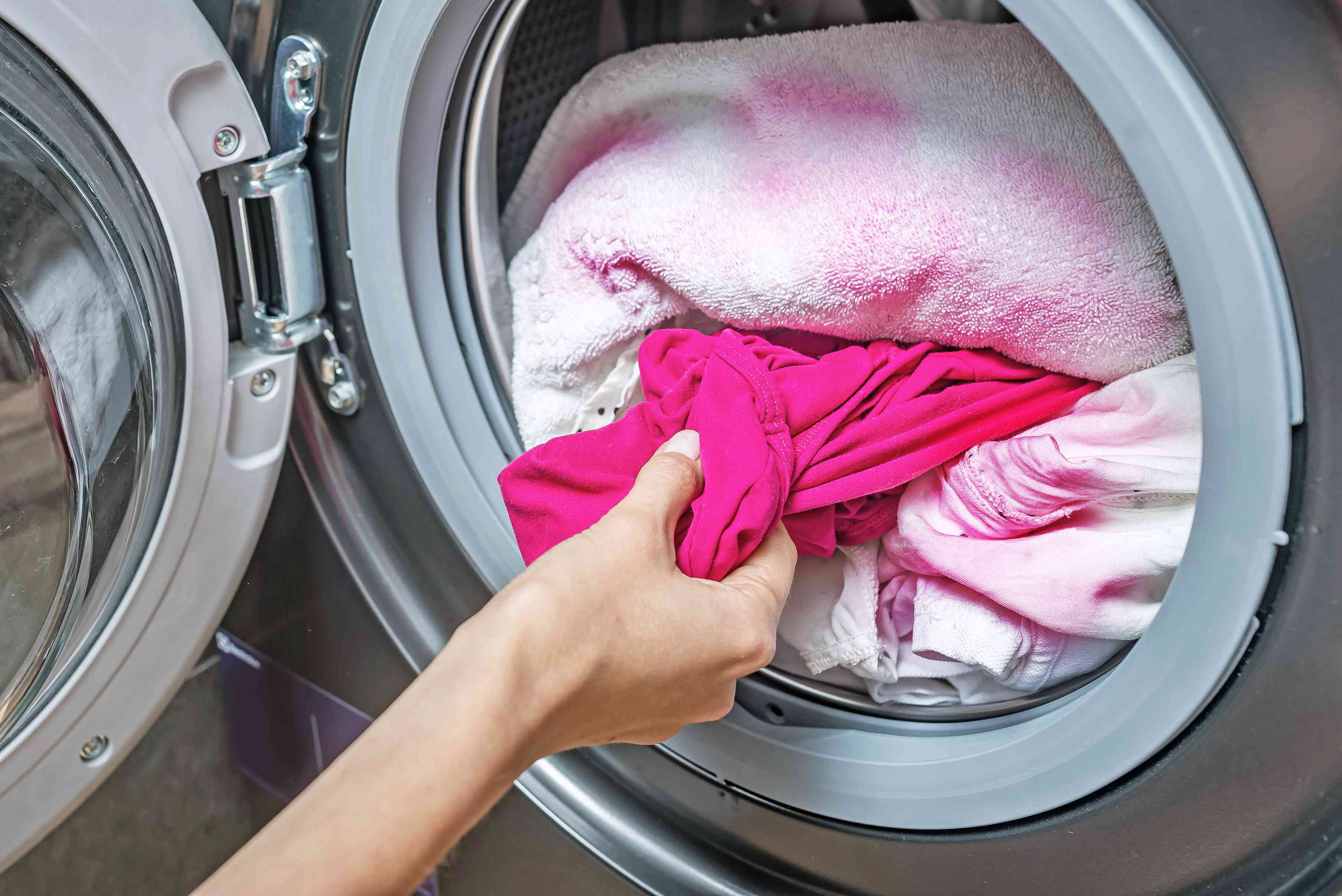 rewashing clothing with bleach and detergent