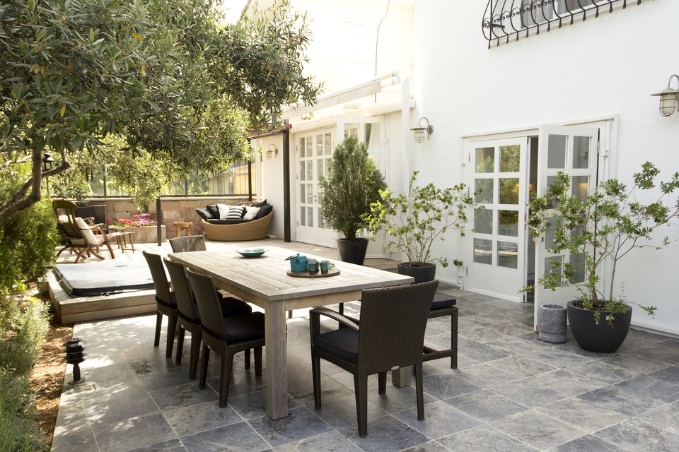 Patio Design Ideas That Use Mixed Materials on Patio Surfaces Ideas id=71596