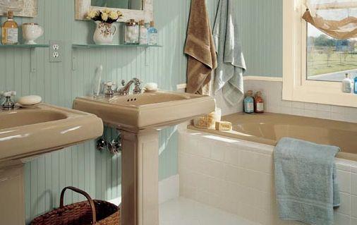 Baño estilo cabaña