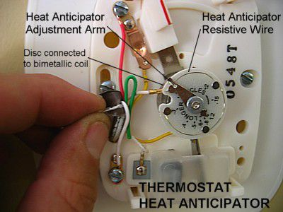 Thermostat heat anticipator diagram