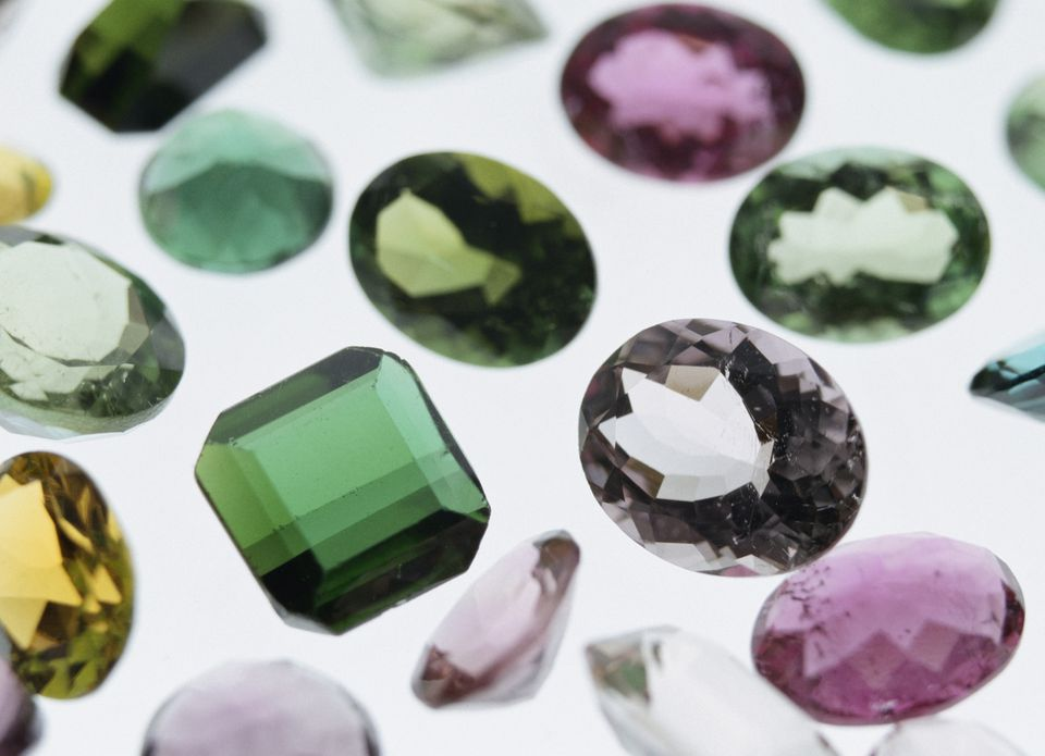 Colorful tourmaline stones